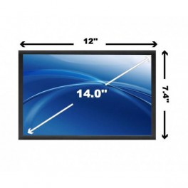 "14"" LED Slimline Laptop Scherm Mat 1600x900"